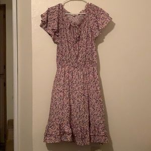 Anthropologie ditzy floral ruffle mini dress
